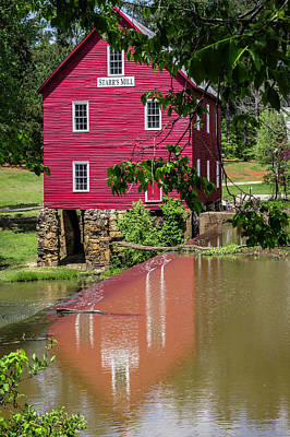 Photograph - Starrs Mill Reflection by Randy Bayne