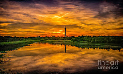 Photograph - Reflecting Sunset At The Lighthouse by Nick Zelinsky