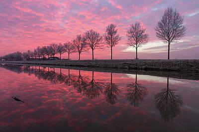 Photograph - Reflecting Sunset by Edwin Mooijaart