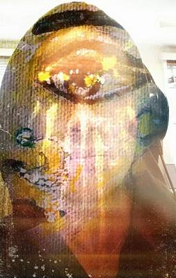 Inner Self Painting - Reflecting Within by Michael African Visions