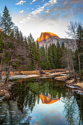 Photograph - Reflecting Yosemite Half Dome Skies by Gregory Ballos