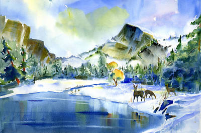 Painting - Reflecting Yosemite by Joan Chlarson