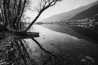 Black And White Photograph - Reflecting by Yuri Santin