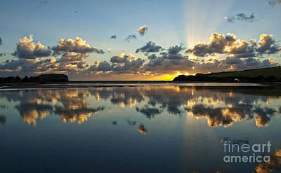 Photograph - Reflection And Sunrays   by Trena Mara