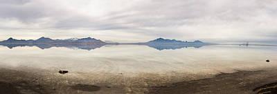 Reflection At Bonneville Salt Flats Art Print by Mark Spomer
