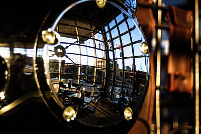 Photograph - Reflection At Harley Davidson Museum by Jeanette Fellows