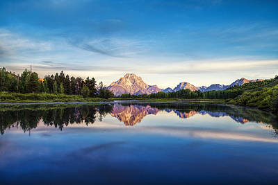 Mountain Photograph - Reflection At Oxbow Bend by Andrew Soundarajan