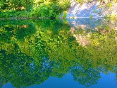 Photograph - Reflection At The Quarry by Polly Castor