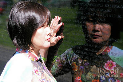 Photograph - Reflection At The Wall Pt.2 by John S