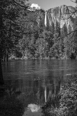 Photograph - Reflection At Yosemite Black And White  by John McGraw