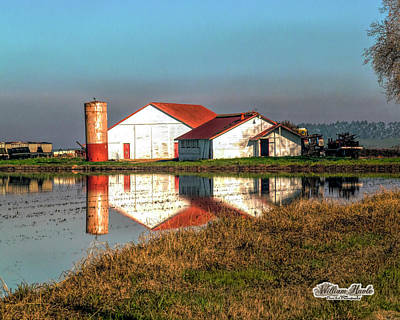 Photograph - Reflection Barn  by William Havle