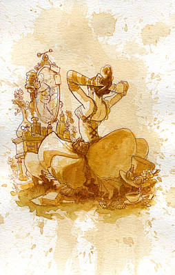 Steampunk Wall Art - Painting - Reflection by Brian Kesinger