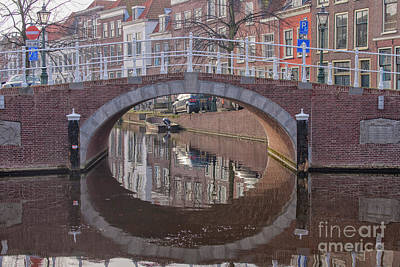 Photograph - Reflection Bridge In Water by Patricia Hofmeester