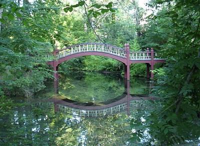 Reflection Bridge Art Print