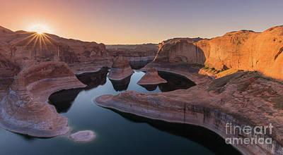 Canyon Lake Photograph - Reflection Canyon, Lake Powell, Utah by Henk Meijer Photography