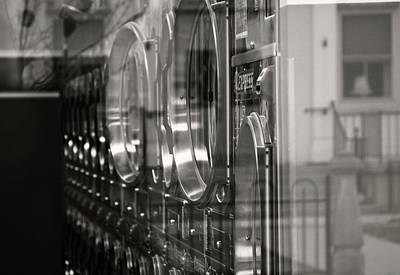 Laundry Mat Photograph - Reflection by Catherine Smith