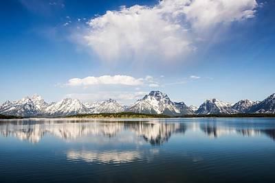Photograph - Reflection Grand Tetons by Jim Bosch
