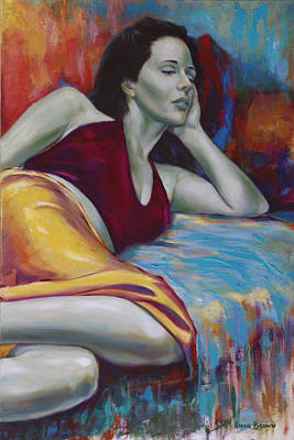 Figurative-abstract Painting - Reflection by Harvie Brown