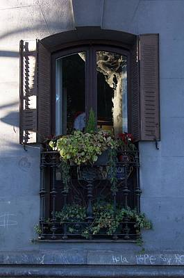 Photograph - Reflection In A Balcony by David Resnikoff