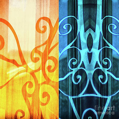 Photograph - Reflection In Abstract On Curtains by Frances Ann Hattier