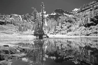Designs In Nature Photograph - Reflection In Bagley Lake by Jon Glaser