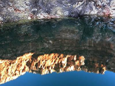 Photograph - Reflection In The Bottomless Lake by Michael Ziegler