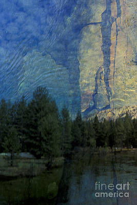Art Print featuring the photograph Reflection In The Merced River by Stan and Anne Foster