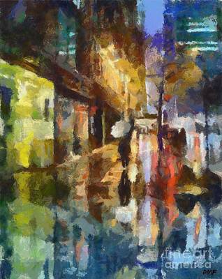 New York Painting - Reflection In The Rain by Dragica  Micki Fortuna