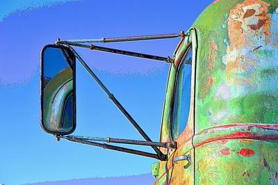 Photograph - Reflection In The Rear View Mirror by Jacqui Binford-Bell