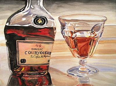 Cognac Painting - Reflection by Jessi Aaron