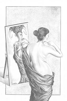 looking in mirror different reflection drawing. mirror-mirror drawing - reflection by julian b looking in mirror different