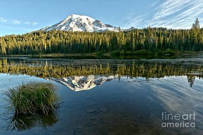 Photograph - Reflection Lake At Rainier by Adam Jewell