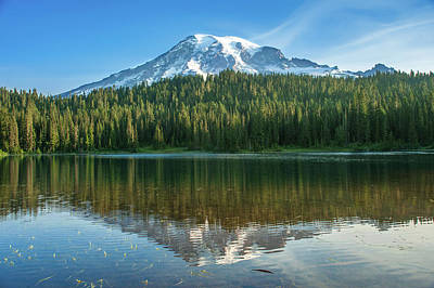 Photograph - Reflection Lake by Crystal Hoeveler