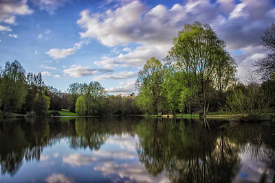 Spring Scenery Photograph - Reflection by Martin Newman