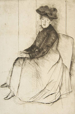 Relief - Reflection by Mary Cassatt