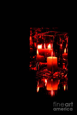 Counry Photograph - Reflection Of A Candle by Robin Lynne Schwind