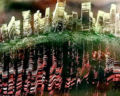 Painting - Reflection Of A City by CA Simonson