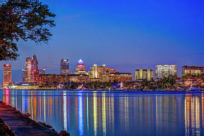 Tampa Skyline Photograph - Reflection Of A City by Marvin Spates