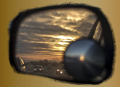 Photograph - Reflection Of A Sunset by David Yocum