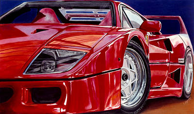 F40 Painting - Reflection Of An Admirer by Lynn Masters