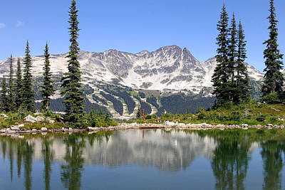 Blackcomb Photograph - Reflection Of Blackcomb Mountain In Harmony Lake by Pierre Leclerc Photography
