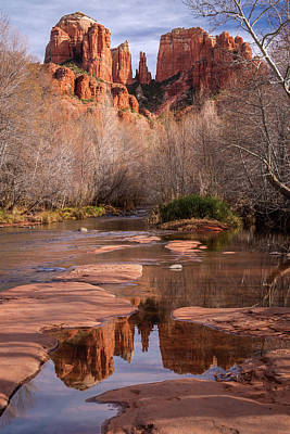 Photograph - Reflection Of Cathedral Rock by Rick Strobaugh
