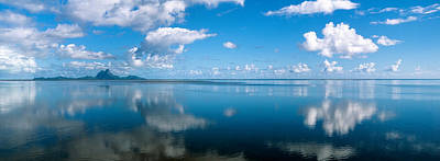 Boras Photograph - Reflection Of Clouds On Water, Bora by Panoramic Images