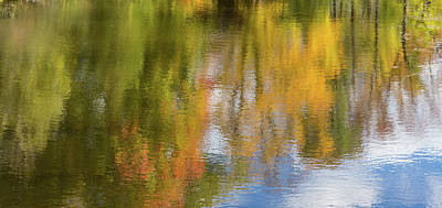 Photograph - Reflection Of Fall #1, Abstract by Peter Pauer