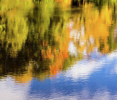 Photograph - Reflection Of Fall #2, Abstract by Peter Pauer