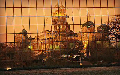 Photograph - Reflection Of Gold Dome by Kathy M Krause