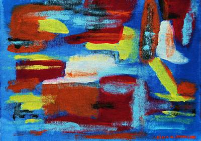 Colorful Abstract Painting - Reflection Of Love by Gina Nicolae Johnson