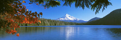 Reflection Of Mountain In A Lake, Lost Art Print by Panoramic Images