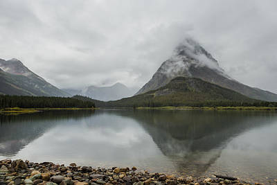 Photograph - Reflection Of Mountains - Glacier Np by Belinda Greb