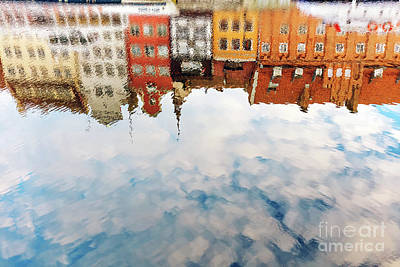 Photograph - Reflection Of Old City Of Gdansk In Motlawa River by Michal Bednarek